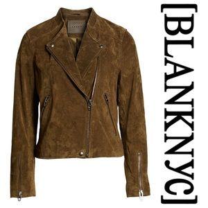 [BLANKNYC] No Limit Suede Moto Jacket in Bank Roll